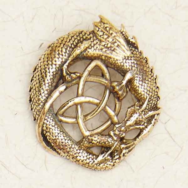 Bronze Celtic Dragon Pendant by Courtney Davis