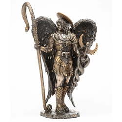 Bronze Finish Archangel Raphael Statue