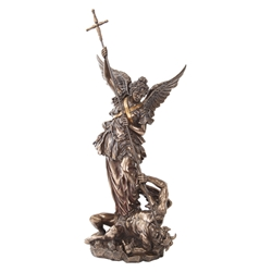 Bronze Finish Archangel St. Michael Statue