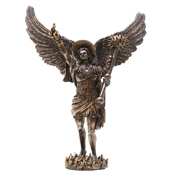 Bronze Finish Archangel Uriel Statue