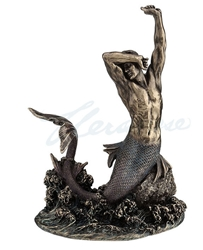 Bronze Finish Merman Statue