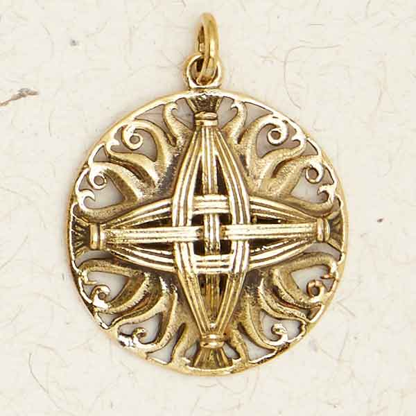 Bronze St. Brigids Cross Pendant by Courtney Davis