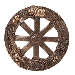 Bronze Wheel of the Year Wall Plaque By Maxine Miller