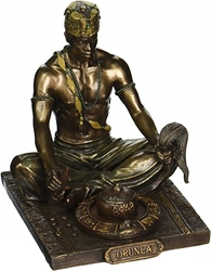 Bronzed Orunla God of Divination and Destiny Statue  Bronzed Orunla God of Divination and Destiny Statue