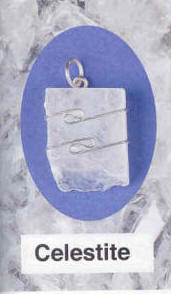 Celestite Pendant Upliftment to the higher domains