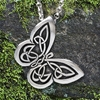 "Celtic Butterfly Pendant with ""Spread your wings"" Affirmation on the back"