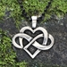"Celtic Infinity Heart Pendant with ""Infinite Love"" Affirmation on the back - CWH"