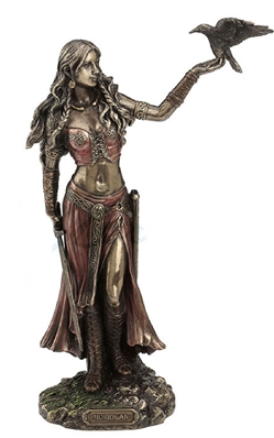 Celtic Morrigan Statue Goddess of Birth, Battle and Death Celtic Morrigan Statue Goddess of Birth, Battle and Death