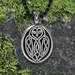 "Celtic Owl Pendant w/ ""Your wisdom will guide you true"" Affirmation on the back - CWO"
