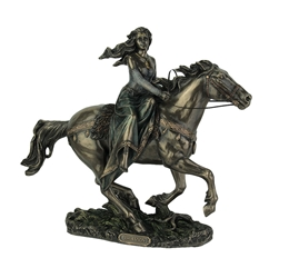 Celtic Rhiannon on Horse Statue (Epona) Bronze Finish Celtic Rhiannon on Horse Statue (Epona) Bronze Finish< Celtic Goddess, Horse Goddess, Epona Statue