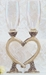 Celtic Smooth Heart Flutes Wedding Glasses - AT-SHF3