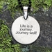 "Celtic Turtle Pendant w/ ""Life is a journey. Journey well!"" Affirmation on the back - CWT"
