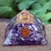 Charoite Orgonite Copper Spiral Pyramid  - CPO