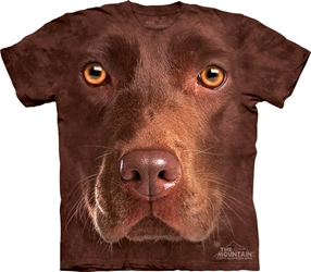 Chocolate Lab  Face T-Shirt 3550