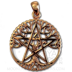 Copper Cut Out Tree Pentacle Pendant Dryad Designs Jewelry by Paul Borda