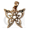 Copper Small Butterfly Pentacle Pendant
