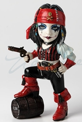 Cosplay Kids Figurines- Pirate Girl with Rum Barrel
