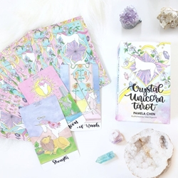 Crystal Unicorn Tarot Deck by Pamela Chen Crystal Unicorn Tarot by Pamela Chen