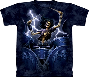 Death Drummer Tee Shirt 10-6242