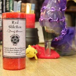Dorothy Morrison Red Stilettos Wicked Witch Mojo Candle