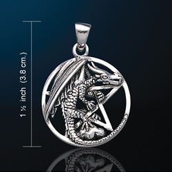 Dragon Clutching Pentacle Pendant