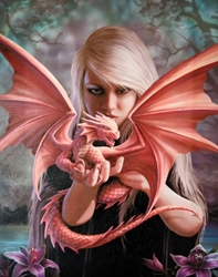 Dragon Kin (Dragonkin) Canvas Art Print by Anne Stokes Dragon Kin (Dragonkin) Canvas Art Print by Anne Stokes, Woman and Dragon Print