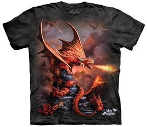 Dragon T-Shirt | Fire Dragon Adult Dragon Tee Shirt Dragon T-Shirt | Fire Dragon Adult Dragon Tee Shirt