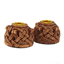 Dryad Designs Celtic Knotwork Candleholders Pair Dryad Designs Celtic Knotwork Candleholders Pair, Celtic Statuary by Paul Borda
