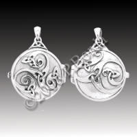 Dryad Designs Celtic Swirl Locket Sterling Silver