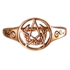 Dryad Designs Copper Crescent Moon Pentacle Ring
