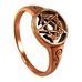 Dryad Designs Copper Crescent Moon Pentacle Ring - CTR3545