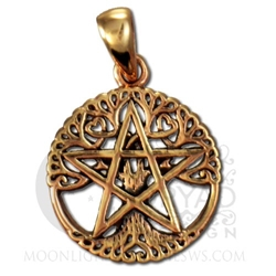 Dryad Designs Copper Small Cut Out Tree Pentacle Pendant