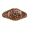 Dryad Designs Copper Tree Pentacle Ring