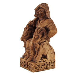 Dryad Designs Seated Thor Statue by Paul Borda  Dryad Designs Seated Thor Statue by Paul Borda