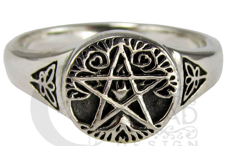 Dryad Designs Sterling Silver Small Tree Pentacle Ring