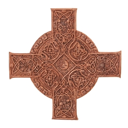 Elemental Celtic Cross Plaque by Maxine Miller