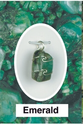 Emerald Pendant Wire wrapped