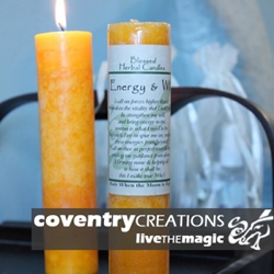 Energy and Will Blessed Herbal Spell Candle