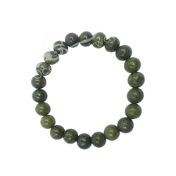 Epidote Beaded Bracelet  8MM Epidote Beaded Bracelet