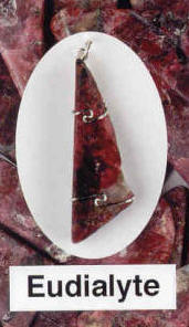 Eudialyte Pendant  Vitality, courage, love and power