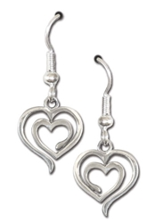 Eves Heart Earrings by Deva Designs
