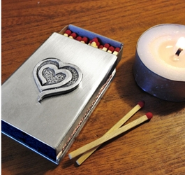 Eves Heart Stainless Steel Match Cover