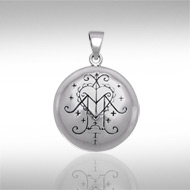 Ezili Freda Pendant Sterling Silver Voodoo Lwa of Love and Luxury Amulet