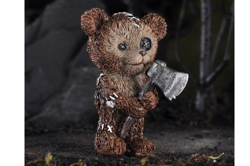 FAIRY GARDEN Miniatures Halloween Psycho Teddy Bear w/ Ax