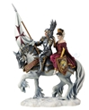FAITH By Ruth Thompson Templar Knight and Princess Statue
