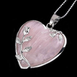 FREE ROSE QUARTZ HEART PENDANT! with any purchase over $30!