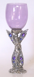 Fairy Flower Glass Pewter Wine Glass