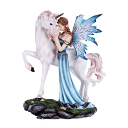 Fairy and Unicorn Statue