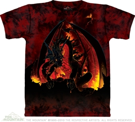 Fireball Red Dragon T-Shirt Fireball Red Dragon T-Shirt, Dragon tee shirt