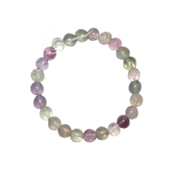 Fluorite 7mm Beaded Crystal Stone Bracelet for Clarity and Removing Negative Energy 8mm Wonderful Beaded Crystal Stone Bracelet, 8MM Bracelet , protection bracelet,moonstone bracelet, healing bracelet